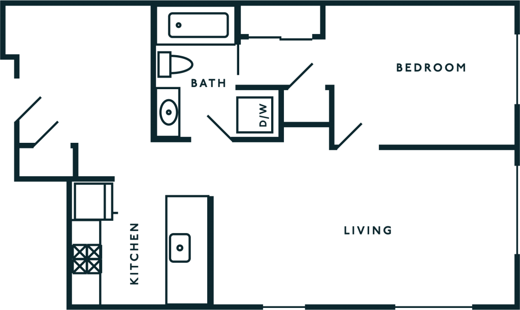 One Bedroom + Den Capitol Hill WA Apartments
